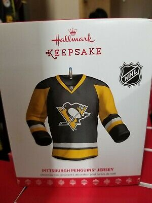 - 2018 HALLMARK KEEPSAKE ORNAMENT Pittsburgh Penguins Jersey NIB customizable