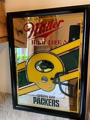 Vintage Miller Beer/Green Bay Packers Mirror Miller Beer Green Bay Packers