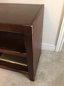 Solid wood entertainment unit