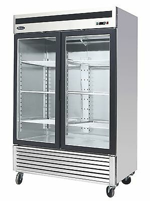 Atosa Mcf8703 Bottom Mount 2-glass Door Freezer