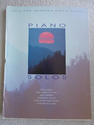 Love & Wedding Piano Solos Classical Popular Unmarked