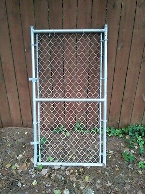 """1 3//8/"""" No Weld Gate Kit for chain link fence  Build it Yourself Kennel Panel"""