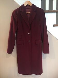 EUC Ladies Fitted 3/4 Length Wool Coat (size XS - 38 European)