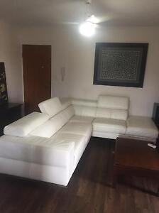 Nick Scali white leather couch Gordon Park Brisbane North East Preview
