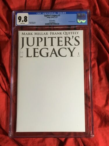 CGC 9.8~JUPITER'S LEGACY #1~1st PRINT BLANK SKETCH VARIANT~NEW NETFLIX TV SHOW