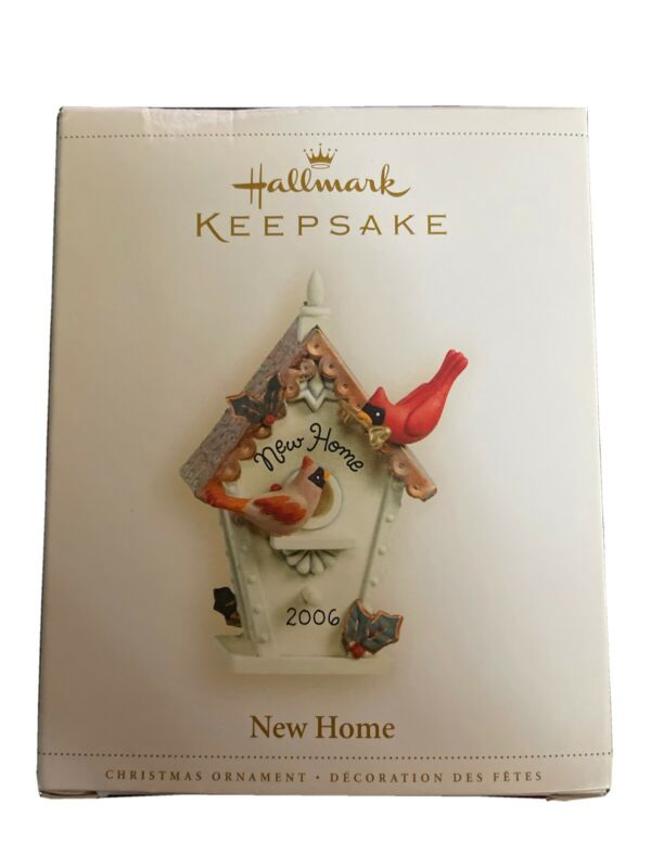 Hallmark Keepsake Ornament 2006 New Home Cardinals and Birdhouse