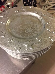 Holiday Metallic Charger Plates- Set of 6