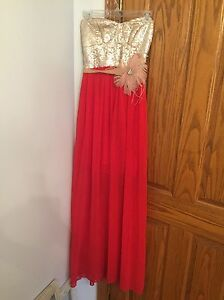 Red and Gold evening dress Windsor Region Ontario image 1