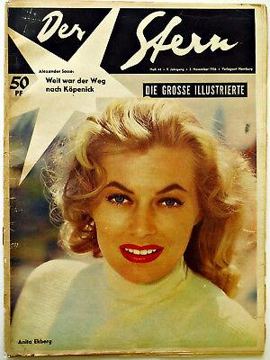 *Der Stern* Nr. 44/ 3.11.56 Ekberg, Aufstände Polen Ungarn, Ufa 1950er-Original