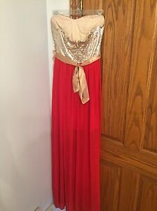 Red and Gold evening dress Windsor Region Ontario image 2