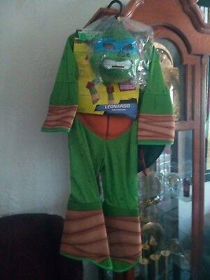 Teenage Mutant Ninja Turtle Dress Up (Teenage Mutant Ninja Turtles Rubie's Deluxe Leonardo Child Dress up Costume 5_7.)