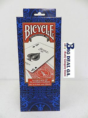 12 Decks Of Standard Faces Bicycle Cards New In Box