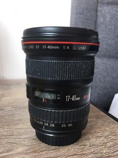 Canon 17-40 USM F4 Lens