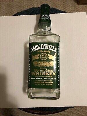 JACK DANIELS  GREEN LABEL 1 LITER BOTTLE (EMPTY)GREEN LABEL for sale  San Antonio