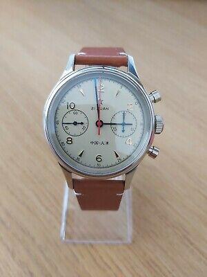 Seagull 1963 38mm chronograph Sapphire Crystal Display Back BNIB *UK SELLER*