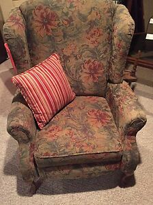 Wing back chair - lazy boy foot rest