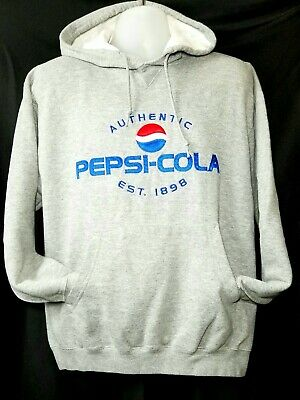 Authentic Pepsi-Cola Official Men's Sz. M Pullover Hoodie w Full Front Sewn Logo