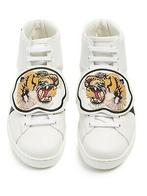 Gucci Men's Ace Tiger Patch High Top - Size 9