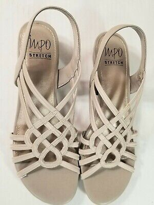 Impo roma  Beige wedge  strappy mini wedge sandals - size 8m