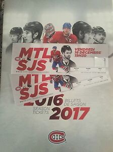 San Jose Sharks vs Montreal Canadiens tickets