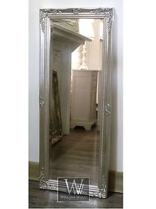 Cannes Silver Shabby Chic Full Length Antique Dress Mirror 16