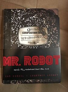 Mr Robot Tv Series Exclusive Signed Journal Book