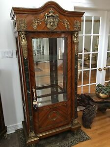 French curio display cabinet
