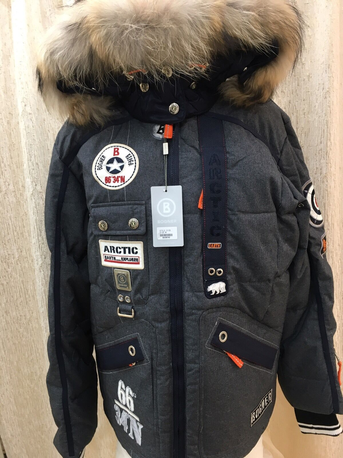 Купить Bogner - Bogner ski jacket Dagur, Down insulated tea wool Mens Winter Size EU 52, 42 US L