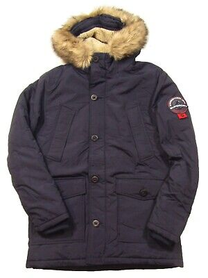 Superdry Men's Navy SD Everest Hooded Parka Jacket