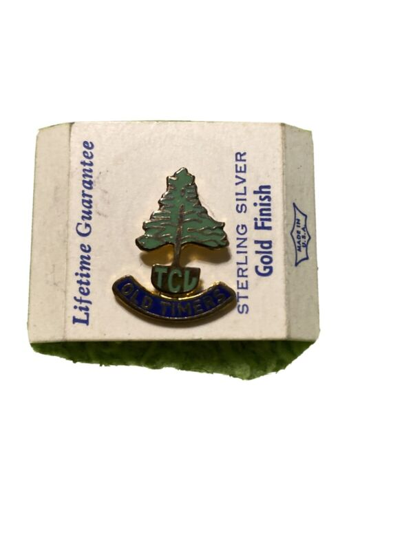 Antique Tall Cedars of Lebanon TCL Member Lapel Pin Masonic Sterling Gold Filled