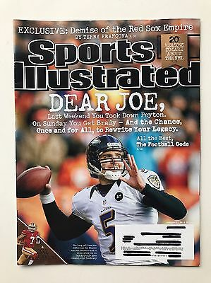 Baltimore Ravens Book Cover - Sports Illustrated Magazine January 21 2013 Baltimore Ravens Joe Flacco Cover