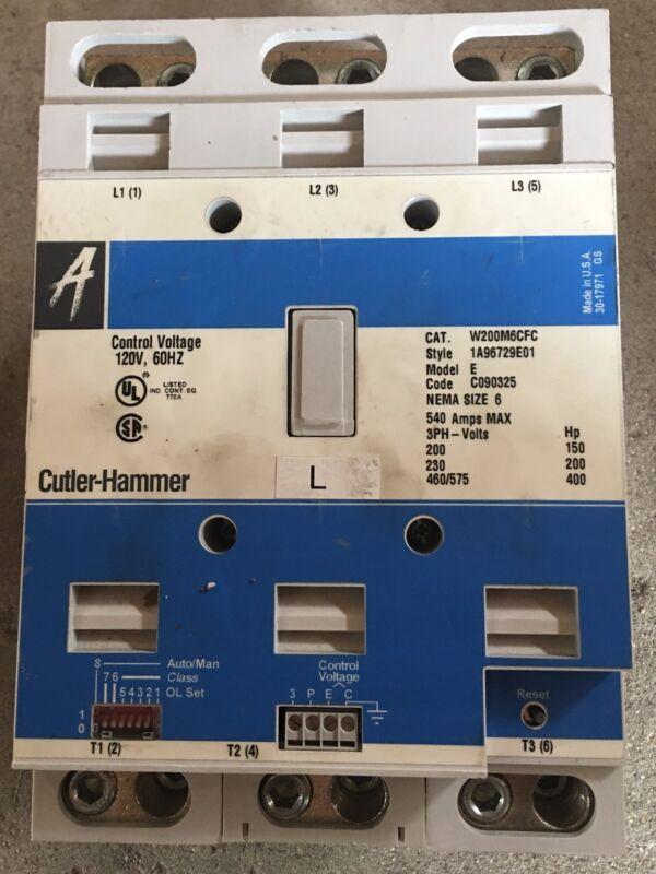 Cutler Hammer Starter W200m6cfc Size 6 540 Amp (practically New)