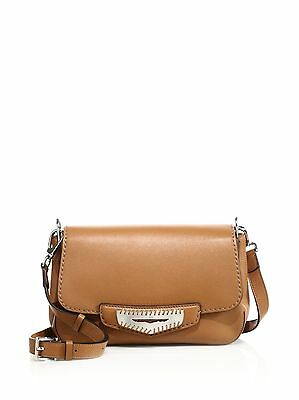 NWT $1395 Tod's Mask East West Crossbody Bag; Brown color