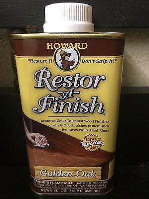 NEW HOWARD'S RESTOR-A-FINISH Golden Oak Wood Furniture Restorer 8 oz