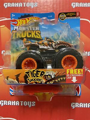 Tiger Shark 11/75 MT Live 2/7 2021 Hot Wheels Monster Trucks Case B