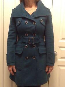 Stunning Karen Millen UK Designer wool cashmere coat