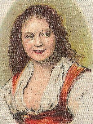 Vintage tobacco cigarette silk - use in crazy quilt -The Market Girl, Franz Hals