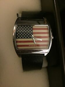 Fossil watch American flag