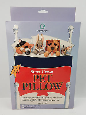 "Super Cedar Pet Pillow LARGE Blue 30"" x 36"" USA Made Just Add Cedar Flea Repel"
