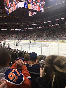 Oilers vs Wild December 4 Lower Bowl tickets
