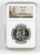 1959 Franklin Half Dollar Proof
