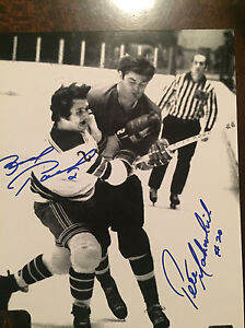 Brad Park and Pete Mahovlich dual signed 8x10 Cambridge Kitchener Area image 1