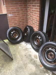 """4 Winter tires with rims 15"""""""