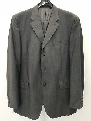 CERRUTI 1181 LIGHT WEIGHT 3 BUTTON GRAY PINSTRIPE MEN'S SUIT SIZE IT 56R= US 46R, used for sale  West Palm Beach