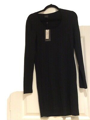 Selected Femme Black Stretchy Lyocell Short Sheath Dress Sz S Bnwt