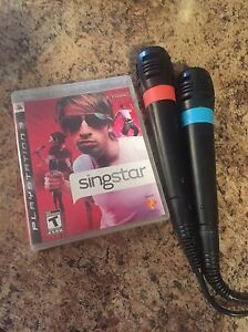 Sing star for PS3 with 2 wires microphones for sale