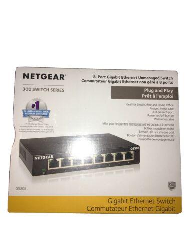 NETGEAR GS308-300PAS GS308 8 Gigabit Port Unmanaged Ethernet