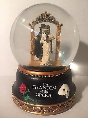 Vintage San Francisco Music Box Phantom of the Opera Mirror Scene Water Globe