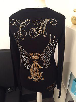 Pullover von Christian Audigier, Gr. L, Steine & Strass gebraucht kaufen  Aichach