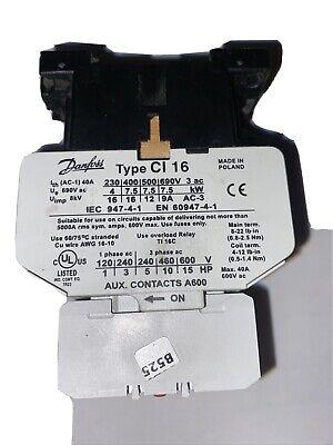Danfoss Ci16 Contactor 120 Volt Coil 3 Auxiliaries